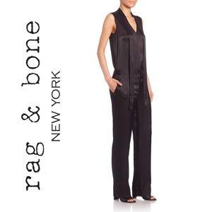 Rag and Bone Lois Tie-Neck Jumpsuit